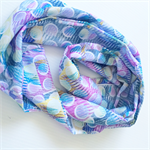 Women's Beautiful Pastels Silky Faille Infinity Scarf or Breastfeeding Wrap